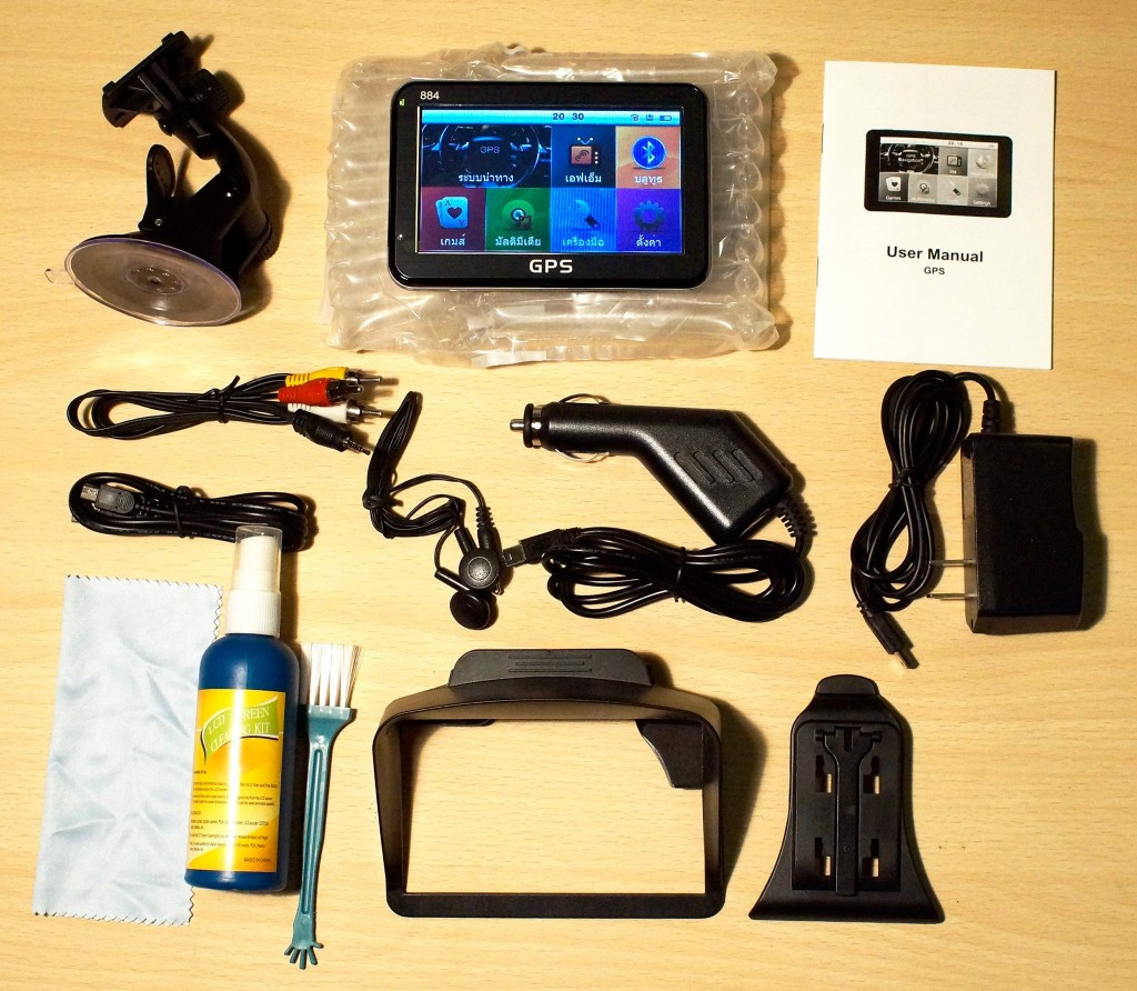 อุปกรณ์ GPSนำทาง ติดรถยนต์ รุ่น 884