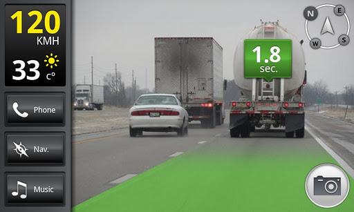 กล้องวีดีโอ App กะระยะห่างรถคันหน้า