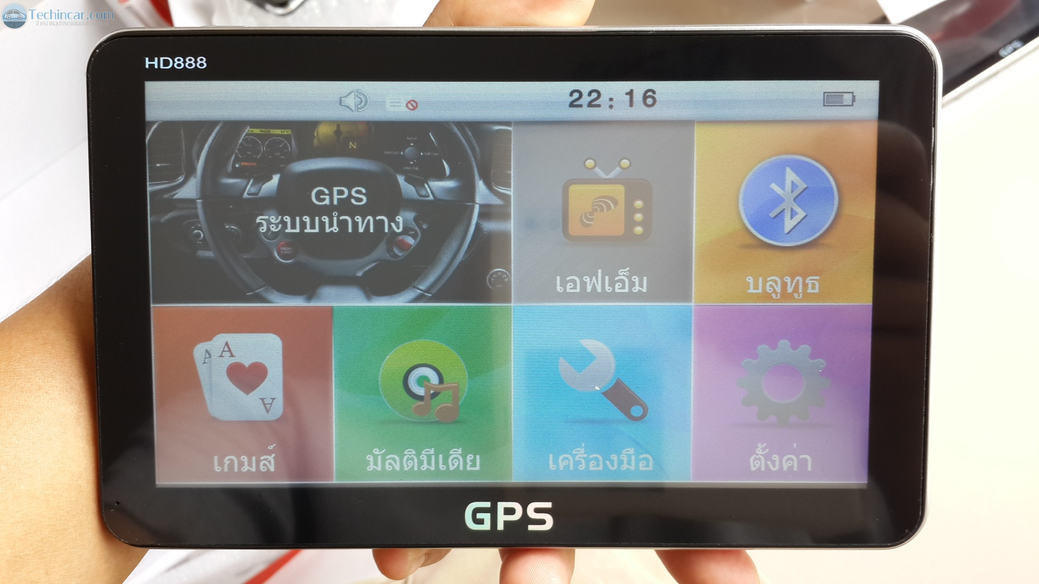 GPSนำทาง เทคอินคาร์หน้าจอ 7 นิ้ว HD888