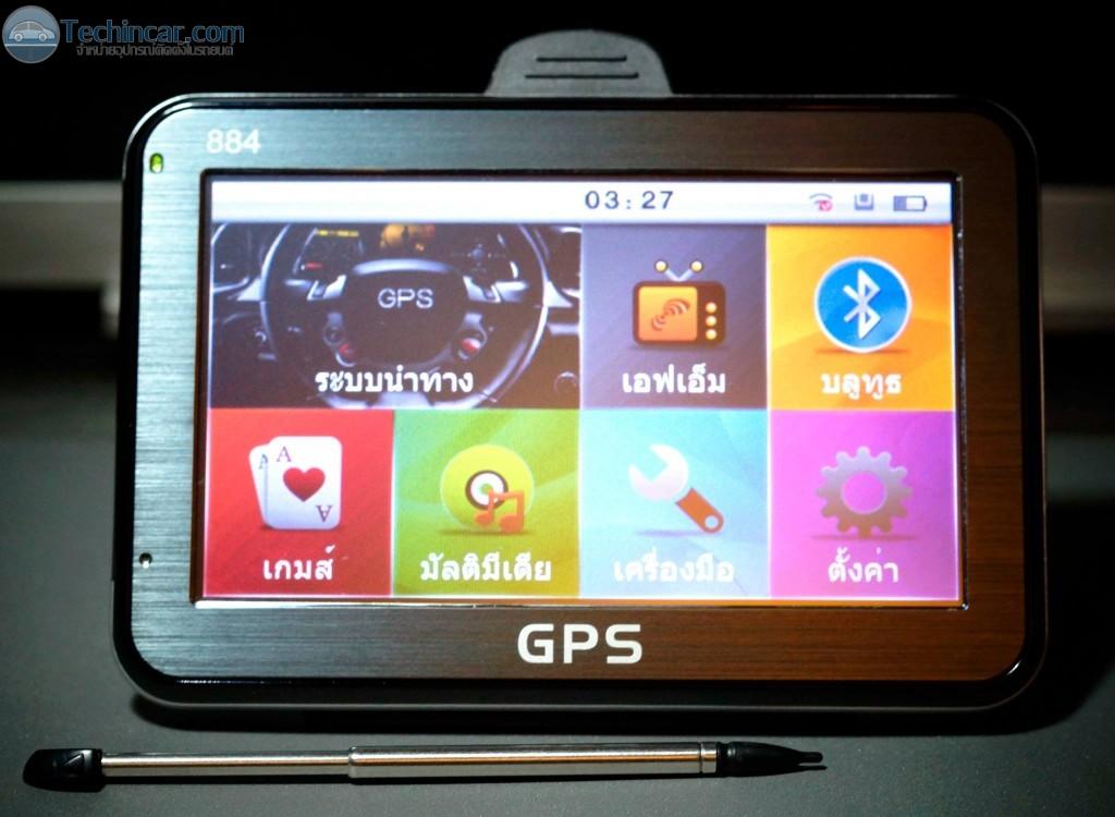 GPSนำทาง ติดรถยนต์ HD884 หน้าจอ 4.3 นิ้ว by techinca.com 2
