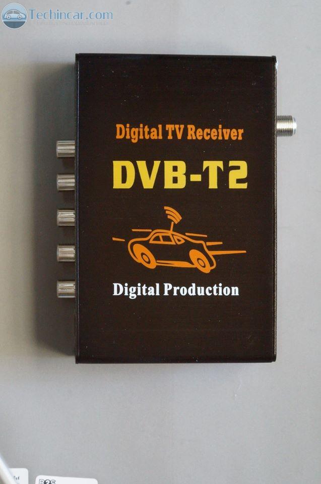 DigitalTV DVB-T2 in car กล่องรับทีวีดิจิตอล รุ่นใหม่ DVB-T2 แบบติดในรถยนต์ จาก Techincar 002