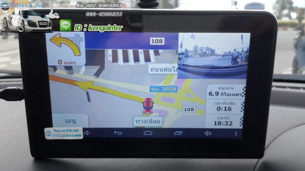 GPSนำทาง GT999 กล้องหน้า เรดาห์