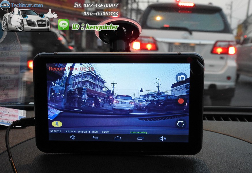 GPSนำทาง+กล้องหน้า Android 7 นิ้ว M515 techincar ราคาถูก