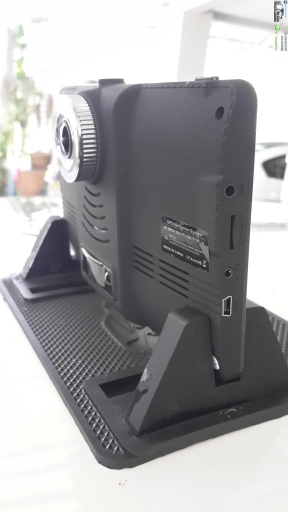 GPSM515 นำทาง มีกล้องหน้า ตะเข็บเย็บหนัง สีดำ