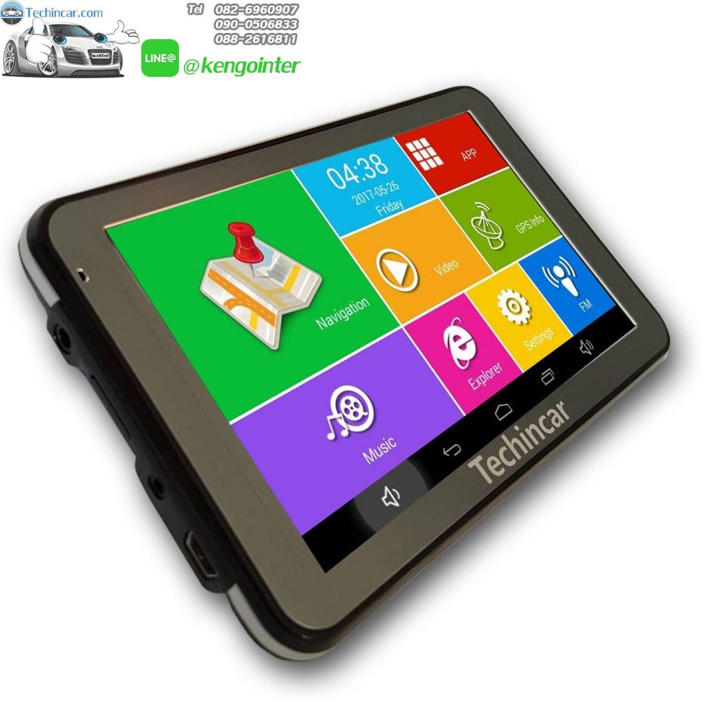 GPSนำทางระบบ Android จอ 5 นิ้ว AV-IN , Bluetooth Techincar.com