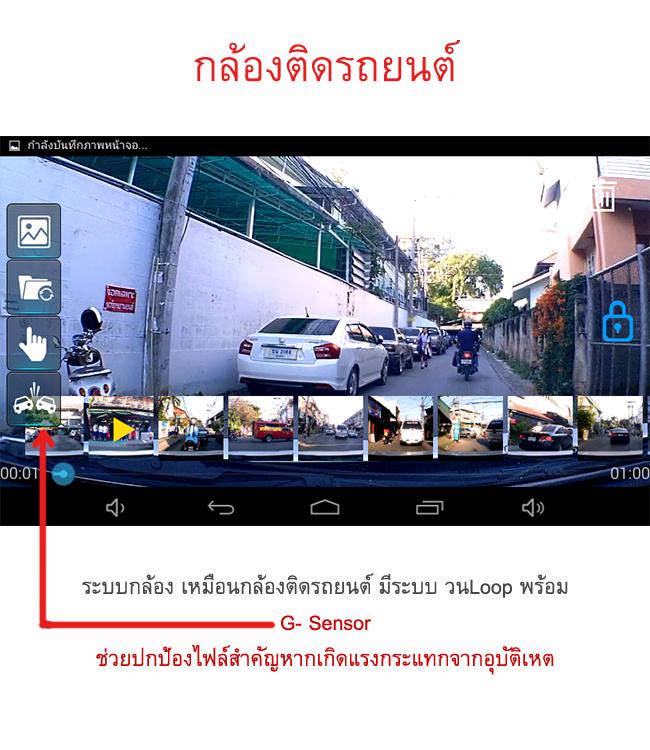 GPSนำทางติดรถยนต์ มีกล้องบันทึก ต่อกล้องมองหลังได้ GT888 Techincar.com