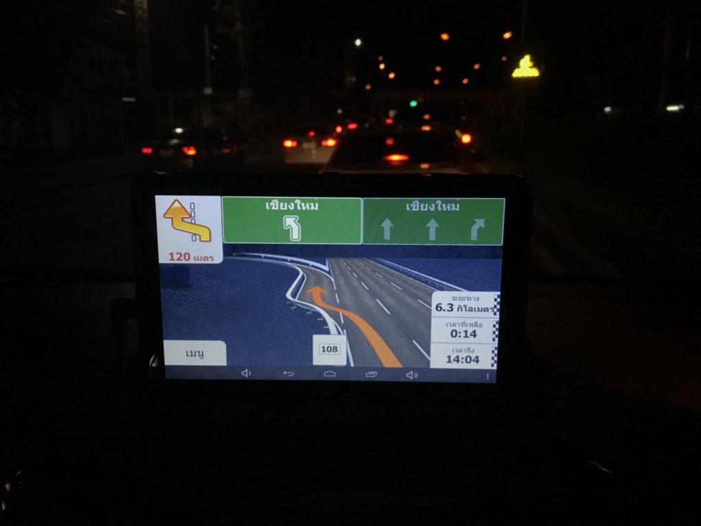 GPS M515 MX18 มีกล้องบันทึกด้านหน้า + หลัง ขนาดจอ 7.0 นิ้ว นำทาง Andorid in car wifi AV-IN Bluetooth