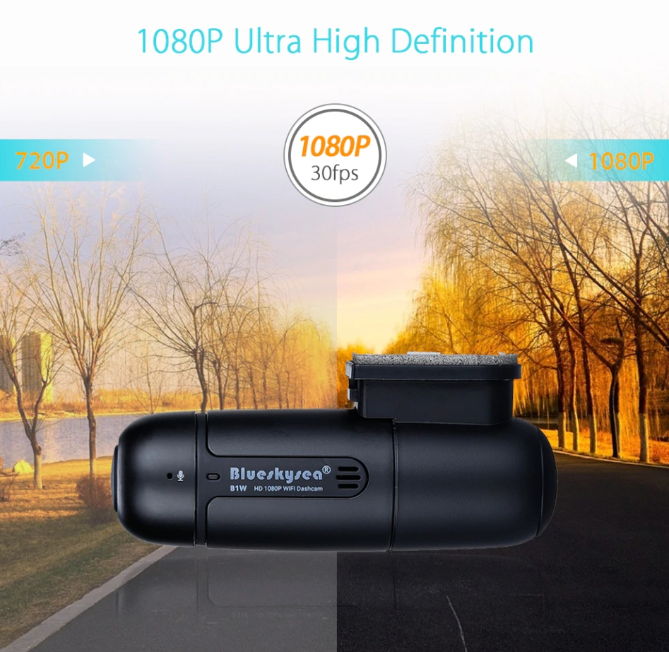 กล้องติดรถยนต์ B1W ของแท้ ชัดทั้งกลางวันและกลางคืน Techincar.com