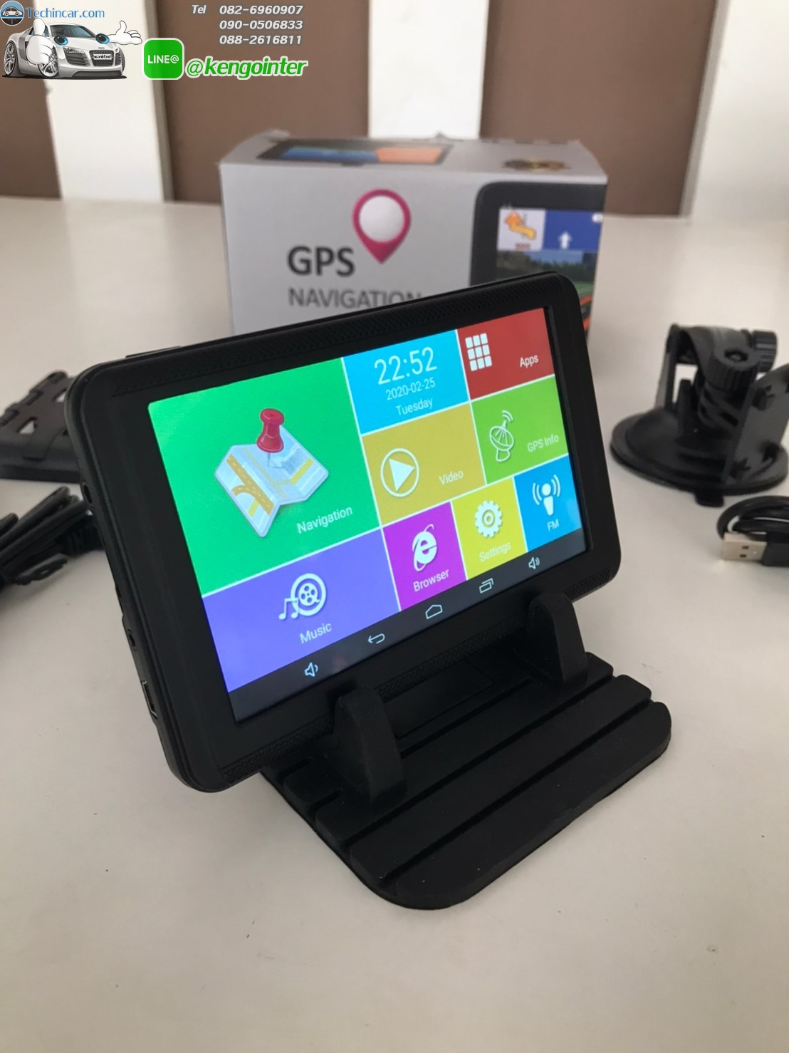 GPSนำทาง จอ 5 นิ้ว นำทาง ไม่ต้องใช้เน็ต จอแอนดรอย andorid in car